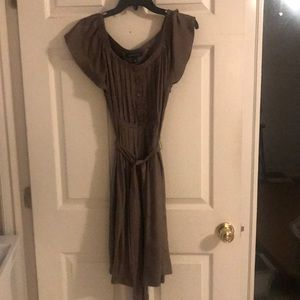 Banana Republic stone silk belted dress